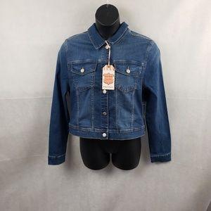 NWT Wax Jean Denim Jean Jacket Size 3XL